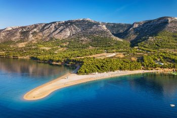 Kroation Reisebaustein: Panoramablick auf Zlatni Rat